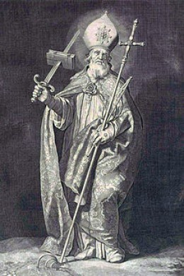 Saint Boniface who many believed created the association of Jesus to Christmas trees.