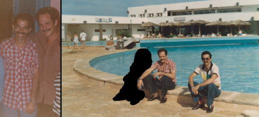 (Pic L) Baudilio Quintiliano (L) and Luis Aguero (R) M-VI Cuban handlers (Dec 1986). (Pic R) Luis and Baudilio (Dec 1986).
