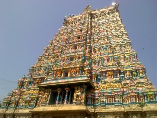 Madurai meenakshi amman temple gopuram