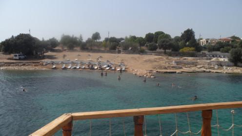 Beach view near Altinkum, Turkey