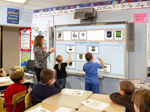 Technology in the classroom can be independent or whole class interactive
