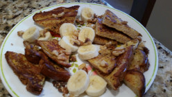 Banana Walnut French Toast - Healthy and Delicious!
