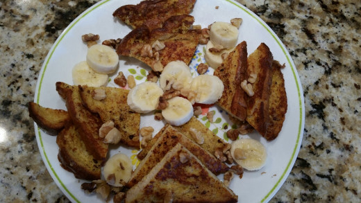 Banana Walnut French Toast - Ready to Eat!