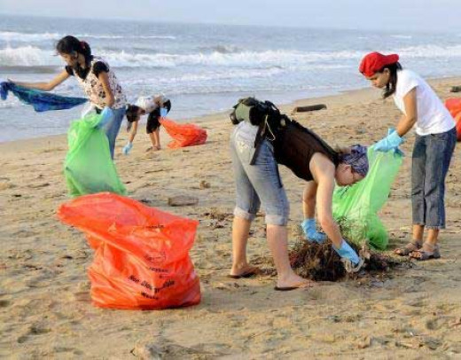 Get involved! Cleaning your beach is a simple but effective way towards saving the Oceans.