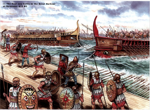 Peloponnesian War Drawings The Battle For Syracuse