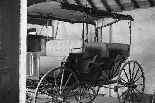 One of the old carriages.