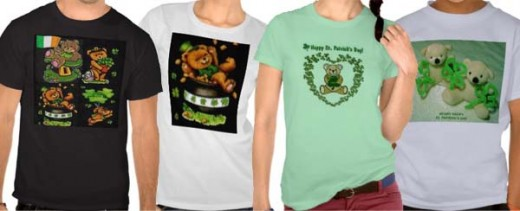 Look under the title St. Patrick's Shirts on Zazzle for the links