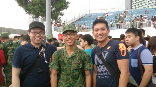 Shot taken with my friends after the BMT graduation parade.