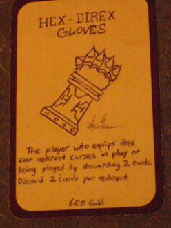 Custom Card Ideas: Hex Direx Gloves