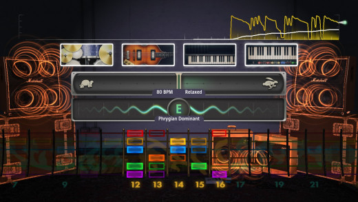 Session Mode lets you jam with a virtual band.