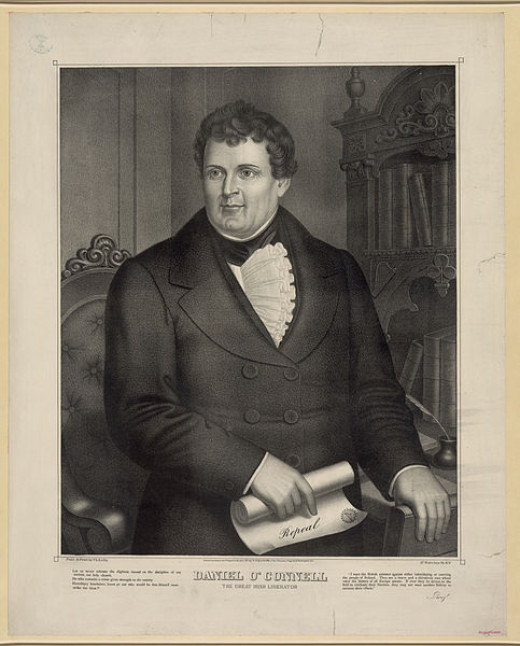 Lithograph of Irish political leader Daniel O'Connell (1775–1847)