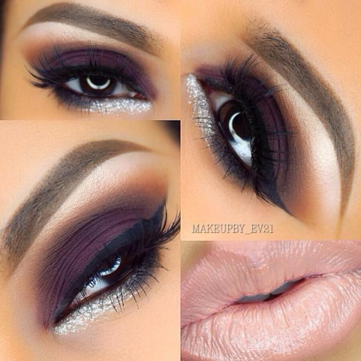 A deep plum smokey eye