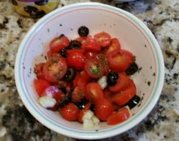 Tomato and Black Olive Salad