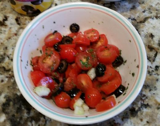 Tomato and Black Olive Salad