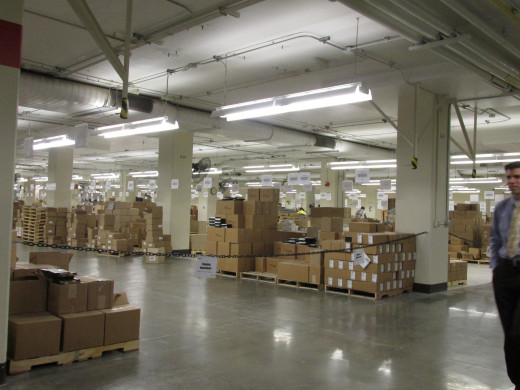 The immaculately clean printing facilities at Wallkill, NY produce millions of Bibles and Bible based publications.