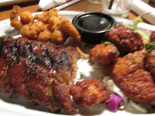 On our way back home from the tours, we stopped at TGI Fridays' for dinner. We enjoyed good spiritual association and a delicious meal of ribs, chicken, shrimp, French onion soup, salads and hamburgers.