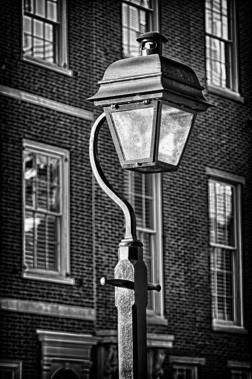 Wonderful Black and White Print for sale of a Philadelphia Street Lamp.  Truly a classic American Beauty!!