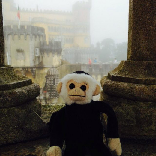 Mooch Hangin' Out at a Castle