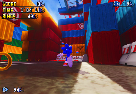 Development screenshot of Sonic Lost Adventure: Havok Harbor
