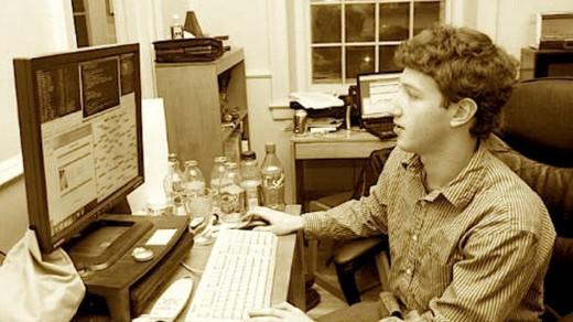 Young Zuckerburg at work