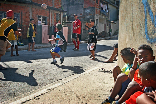 Kids in Brazil showing off their skills