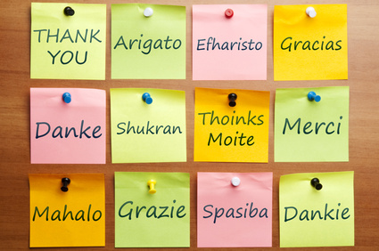 Saying 'Thank You' in 12 languages