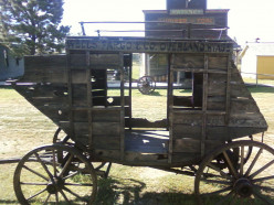 An old Wells Fargo stage coach