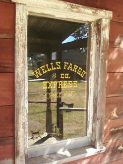 Window of the Wells Fargo office