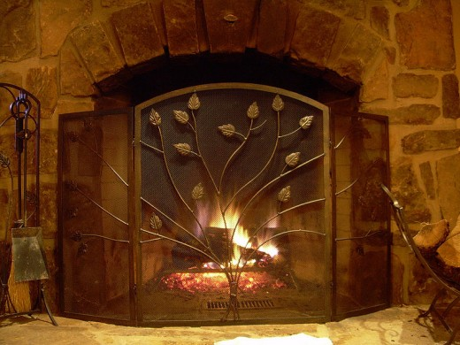 A fireplace can add a very romantic atmosphere to a home date.