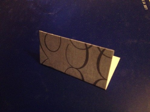 1. fold in half with back sides together.