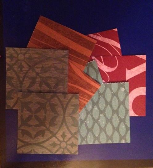 Choose 16 pieces of paper cut into 2x2 squares.
