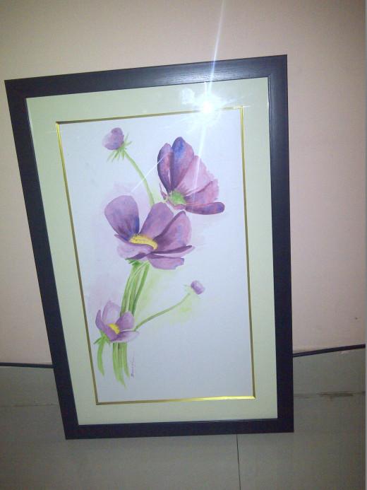 Violets - Framed