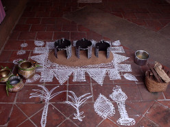The harvest festival Thai Pongal of Tamilnadu