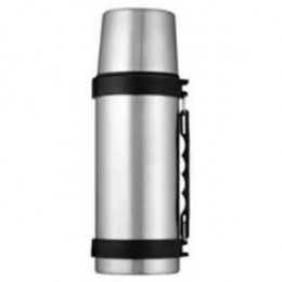 Thermos that hung by my leg with hot coffee