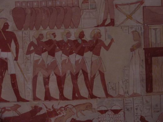 Paintings from the Tomb of Wah.