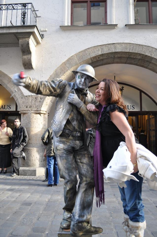 Me in Munich, Germany with a mime.