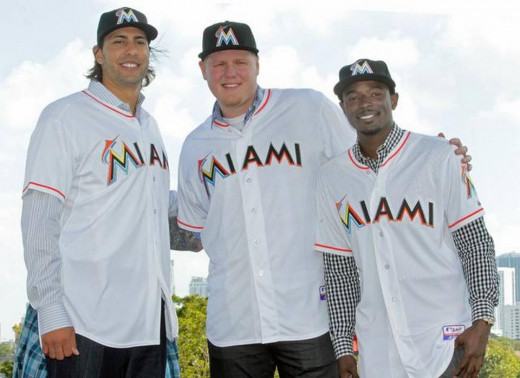 The Miami Marlins are among the teams that had multiple big additions this offseason.