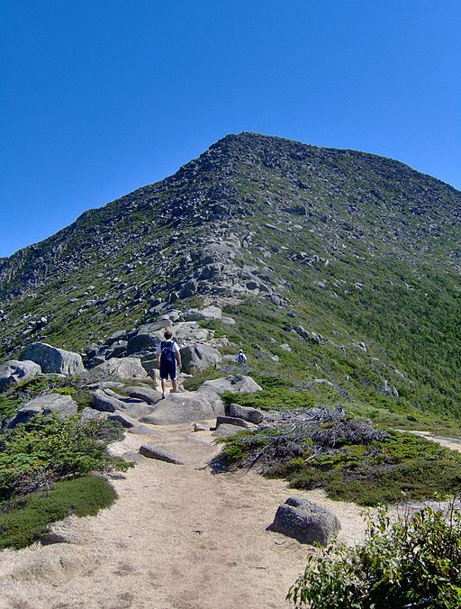 Part of the climb up Katahdin on a much nicer day than when we climbed it.