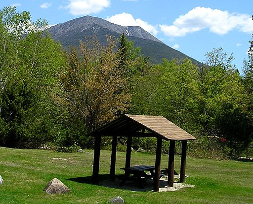 A view of Mt. Katahdin from Katahdin Stream Campground.