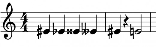 Some accidentals side-by-side.