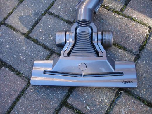 Top view of cheap plastic Dyson vacuum head