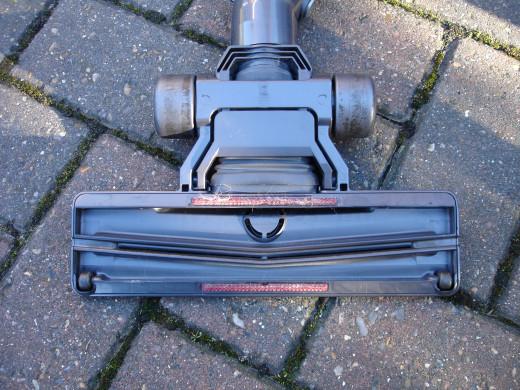 Underside view of Dyson vacuum head
