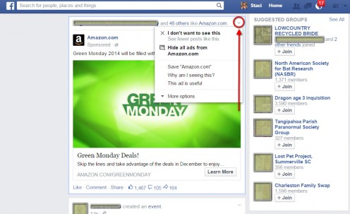 Tailor the ads displayed on your News Feed.