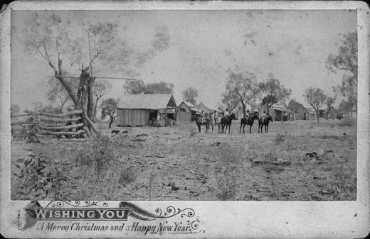 This is a Christmas and New Years card from Mount Abundance Station, around 1898. Mount Abundance Station was settled in 1847 and is nearthe Roma area of Queensland, Australia. So interesting and historical!