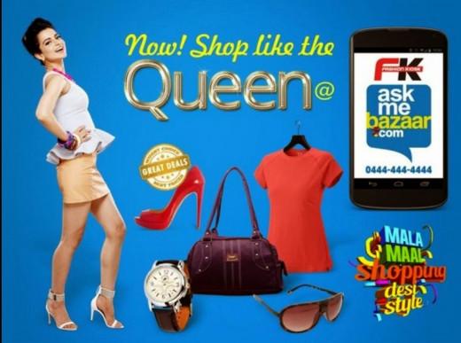 Kangana Ranaut advertising for AskMeBazaar.com