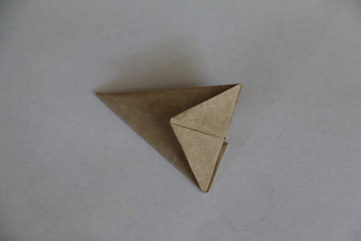 Fold back top triangle