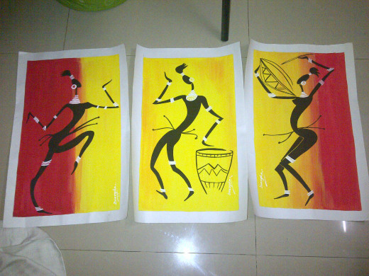 Musicians - Masai Painting