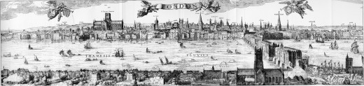 Map of London by Claes Visscher 1616