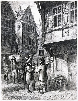 A London street during the plague