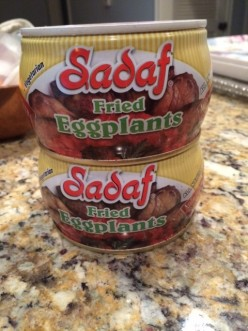 Sadaf fried eggplants